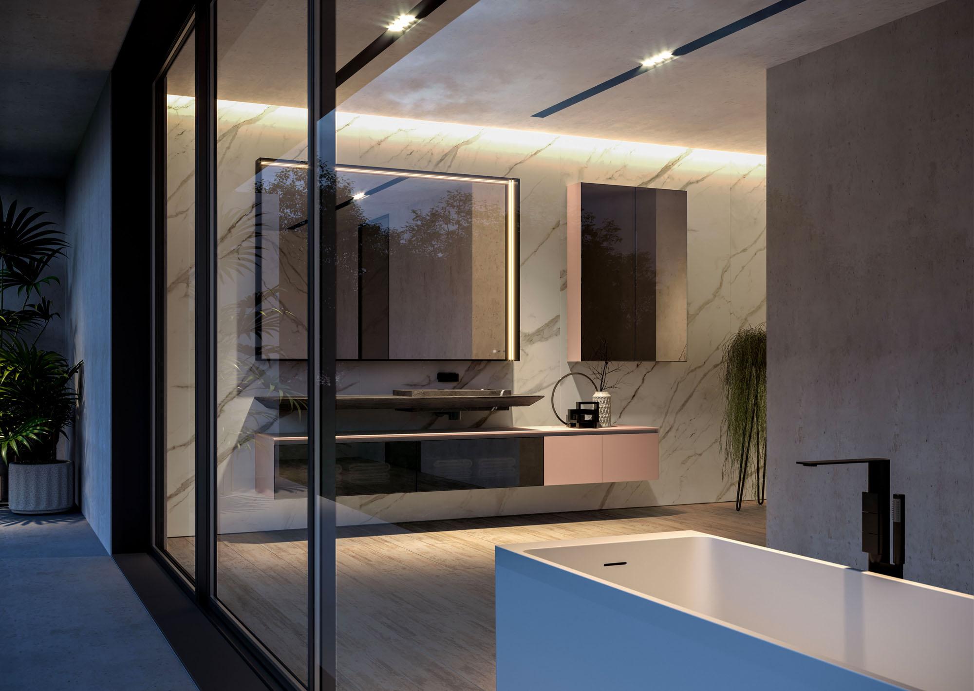 Piano Per Mobile Bagno cubik: modern furniture for designer bathroom décor - ideagroup