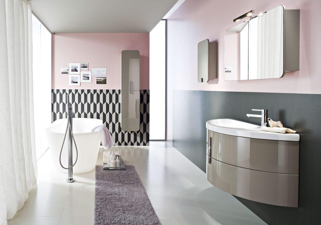 Arredo Bagno Ideagroup Prezzi.Moon Bathroom Cabinets With Curved Ceramic Wash Basin Ideagroup
