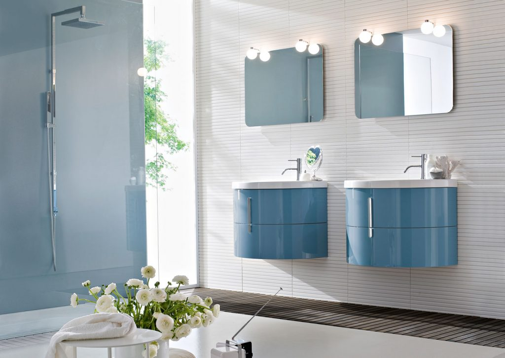 Blob Mobili Da Bagno.Moon Bathroom Cabinets With Curved Ceramic Wash Basin Ideagroup