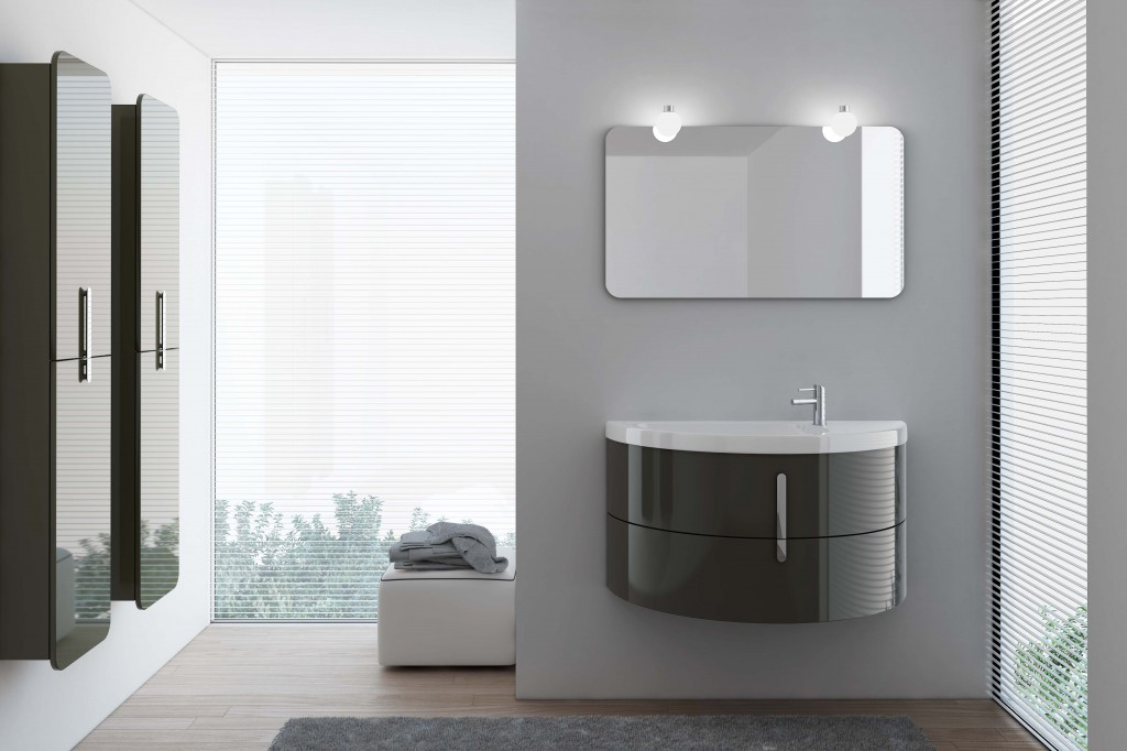 Online preview on the new bathroom Collection, Moon – Modular furniture