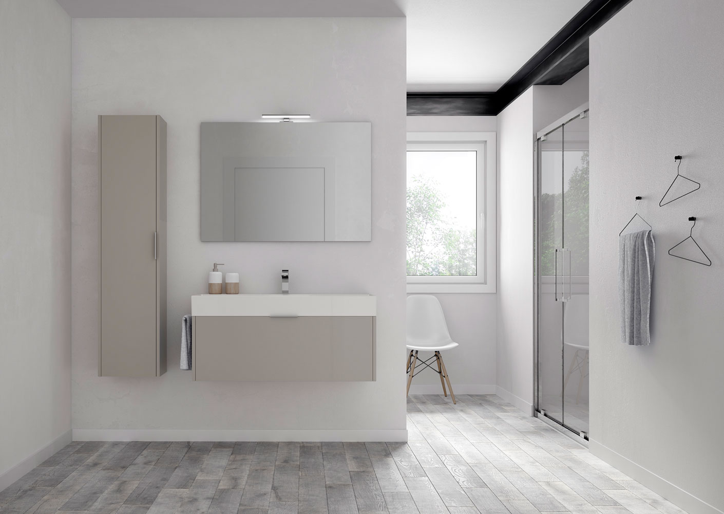 Piano Per Mobile Bagno basic: minimal bathroom furniture for functional bathrooms