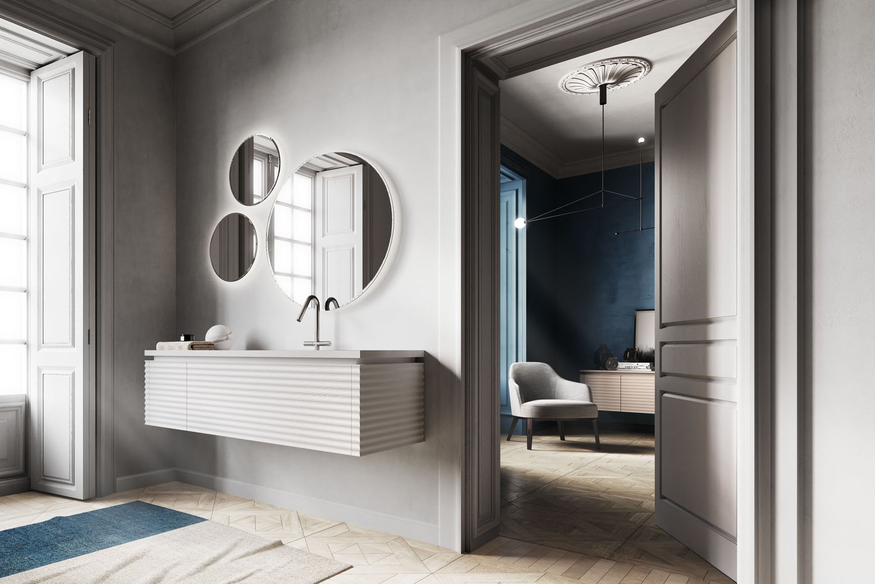 Piano Per Mobile Bagno dolcevita: furniture for a modern, sophisticated bathroom