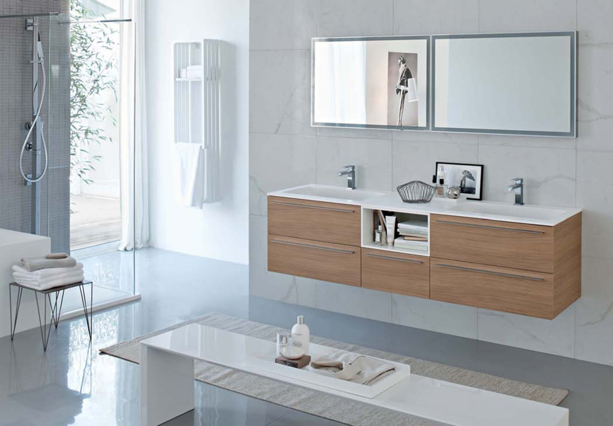 My fly evo modern bathroom furniture and accessories for Mobili legno moderni