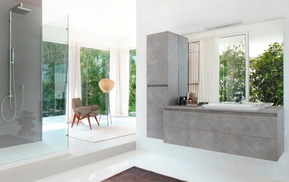 Cubik the minimalist bathroom furniture collection