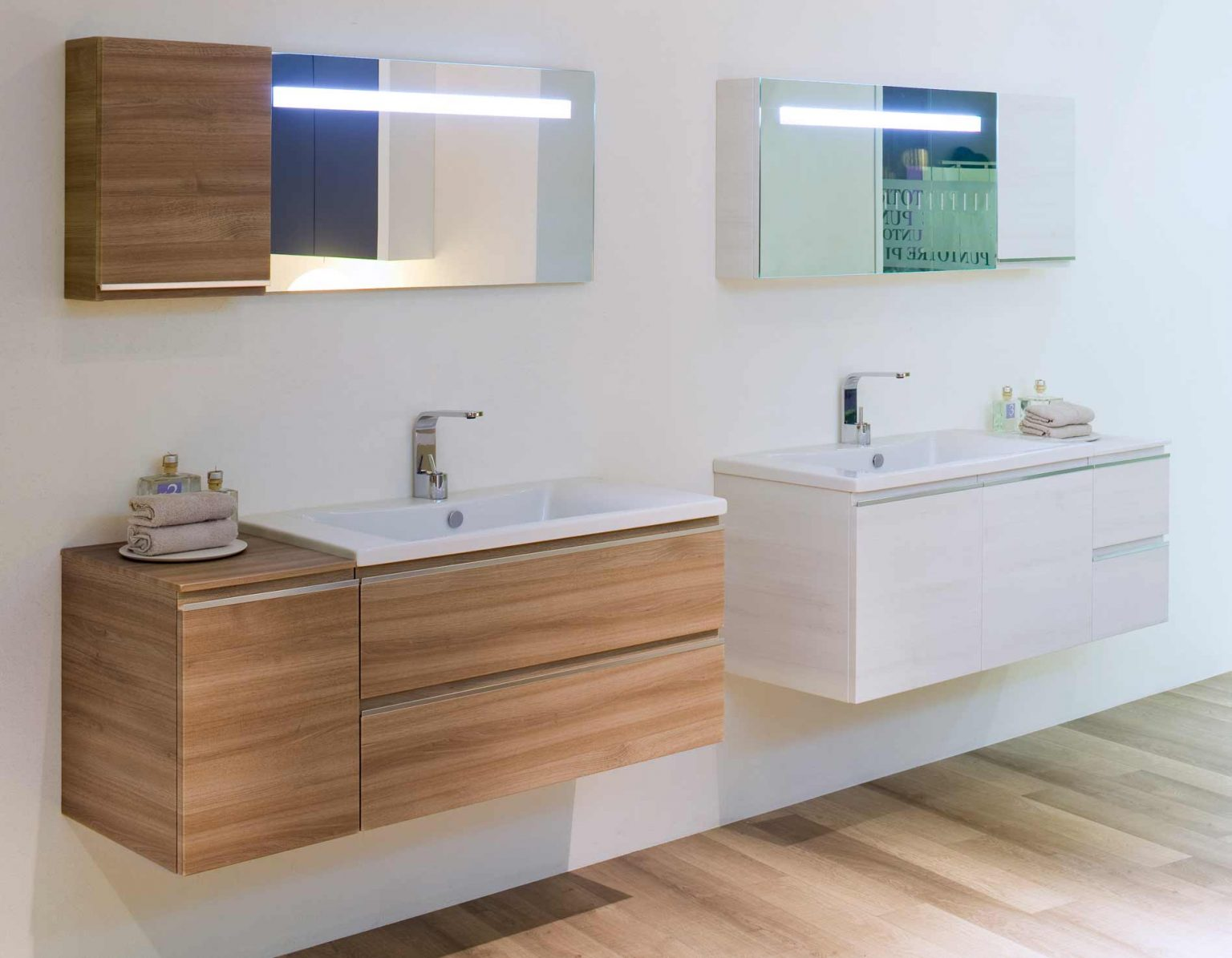 Modular bathroom forniture Mistral by BLOB: new modularity and finishes