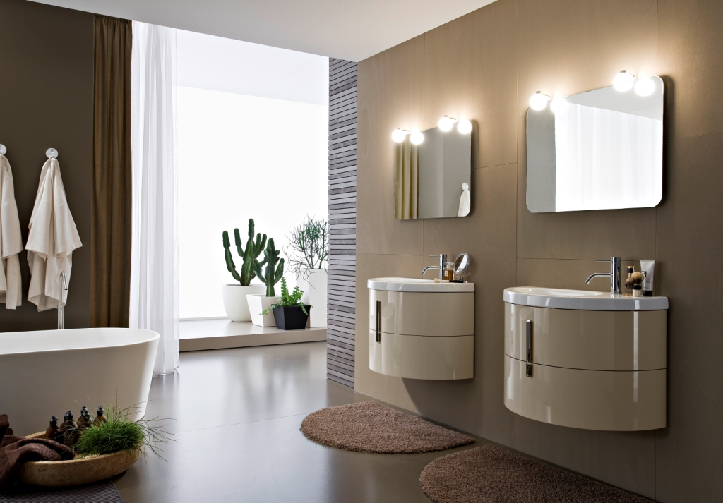 Modular bathroom furniture Moon: ideas
