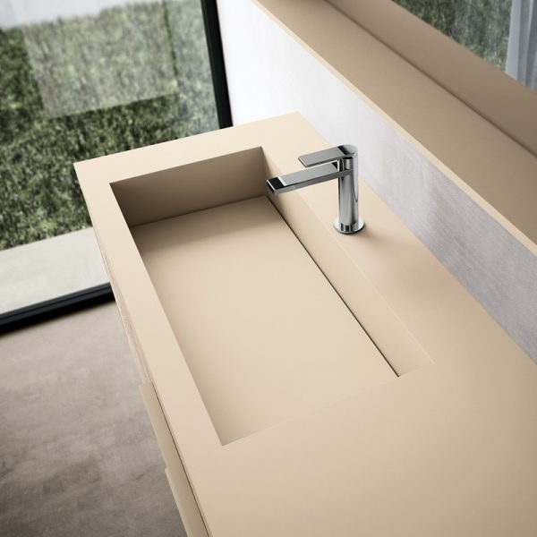 Integrated washbasin in Fenix