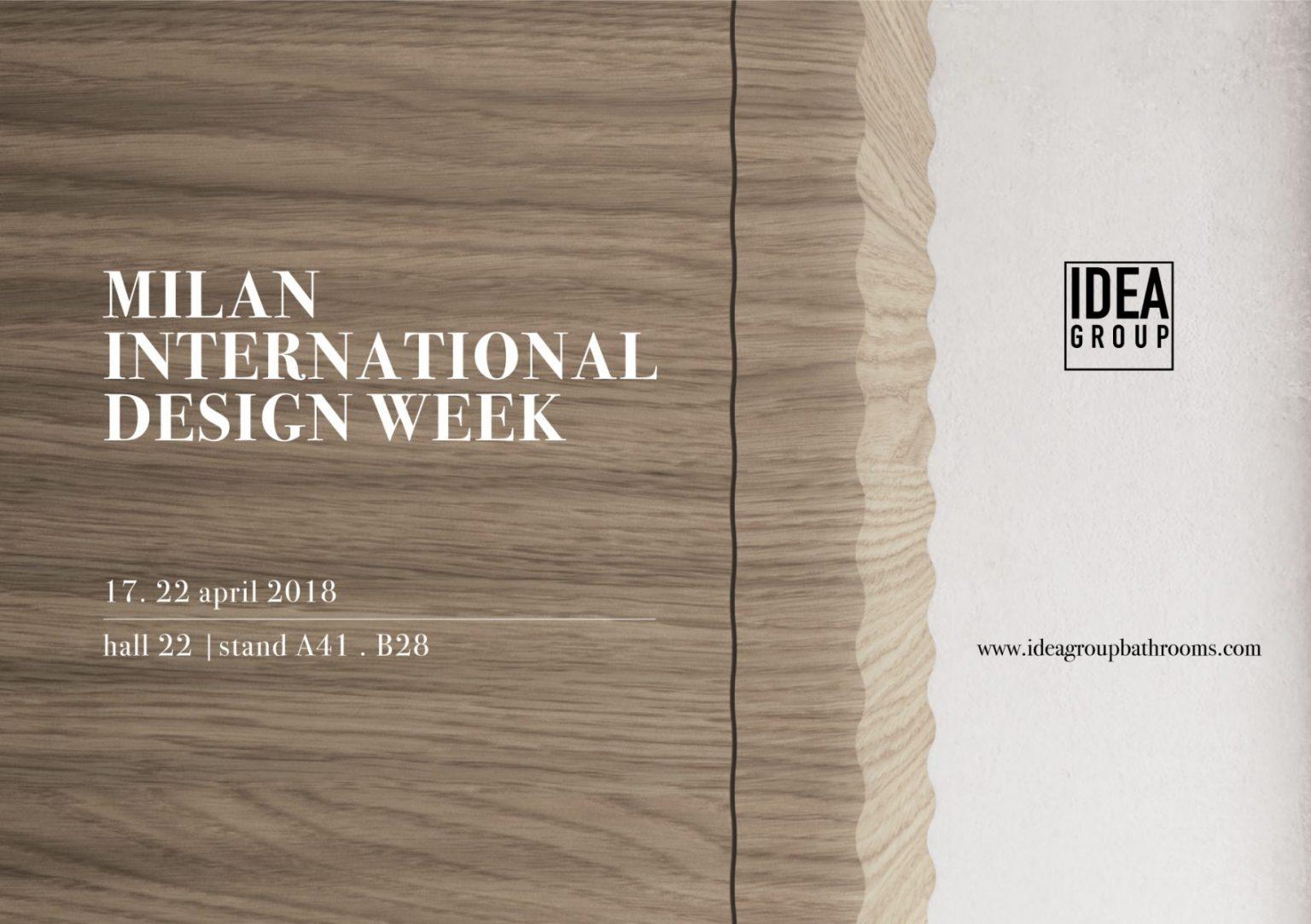 Ideagroup at the Milan 2018 International Bathroom Exhibition