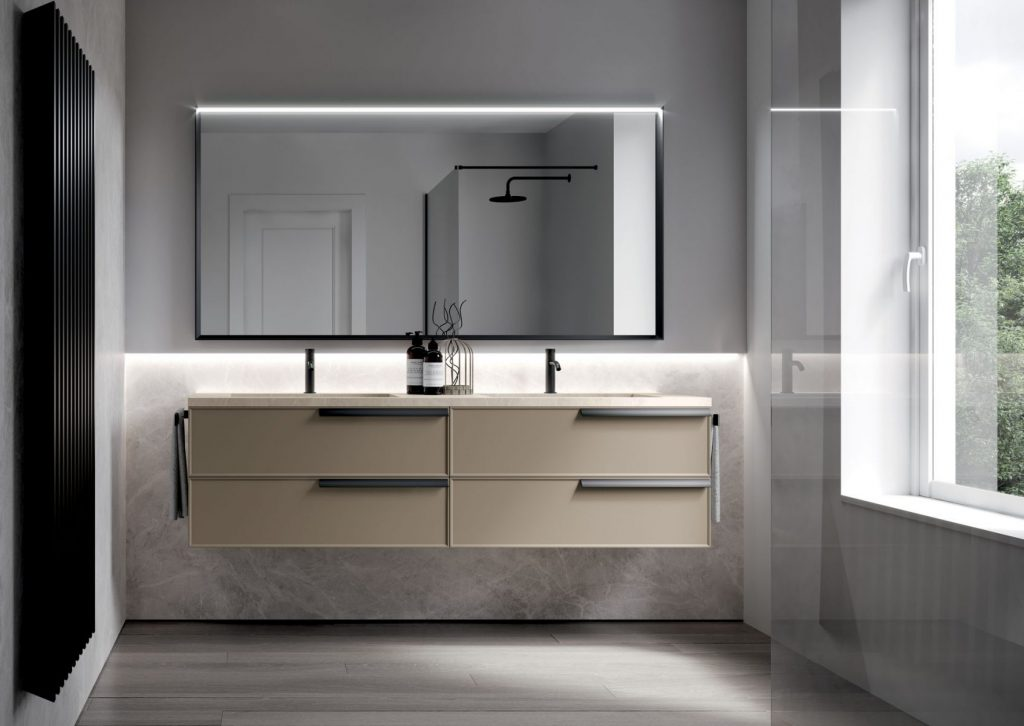 Form floor standing and suspended bathroom cabinets for Mobili accessori bagno