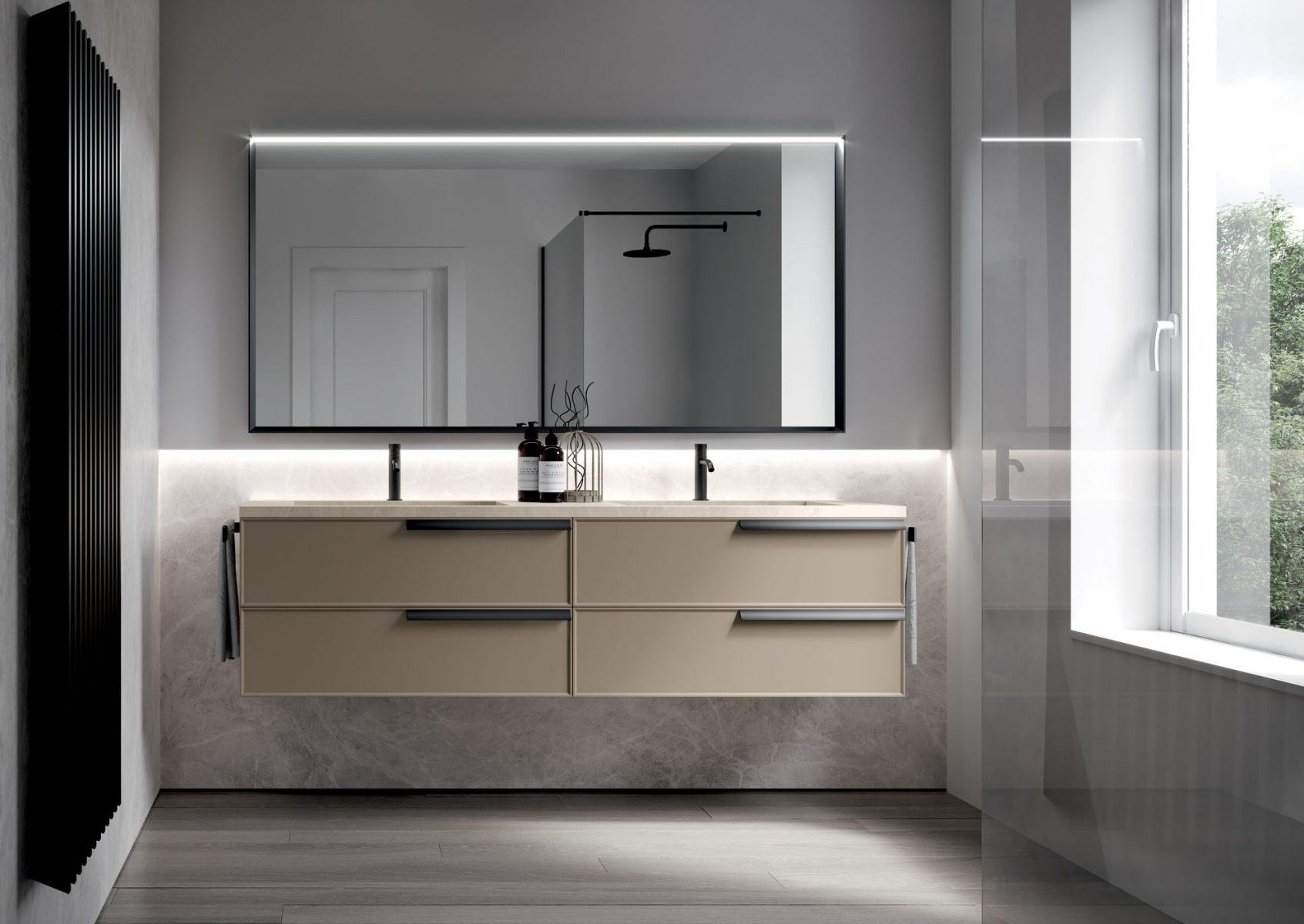 Form floor standing and suspended bathroom cabinets for Mobili moderni bagno