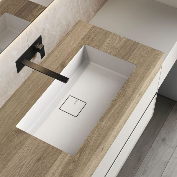 HPL top with integrated washbasin